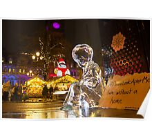 #PleaseLookAfterMe Ice Sculptures - Manchester Poster