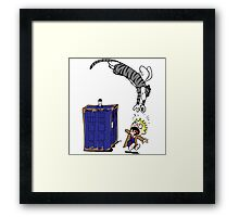 Calvin And Hobbes. Framed Print