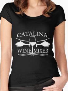 Catalina wine mixer Women's Fitted Scoop T-Shirt