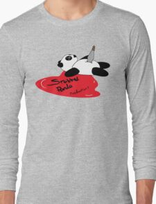 Stabbed Panda Logo Long Sleeve T-Shirt