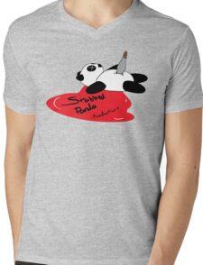 Stabbed Panda Logo Mens V-Neck T-Shirt