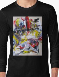 Sergei Rachmaninoff piano concerto 3 - Original mixed media Abstract painting Long Sleeve T-Shirt