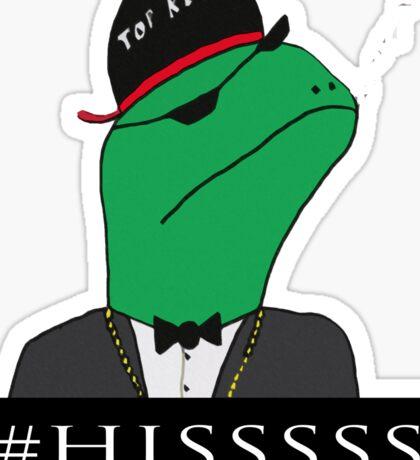 Reptilian Brother Hood #HISSSS  Sticker