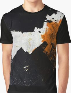 Minimal Orange on Black Graphic T-Shirt
