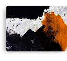 Minimal Orange on Black Canvas Print