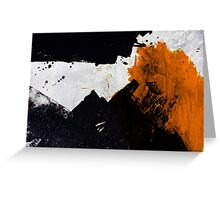 Minimal Orange on Black Greeting Card