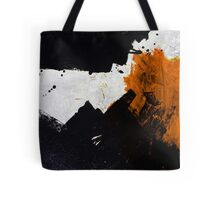 Minimal Orange on Black Tote Bag