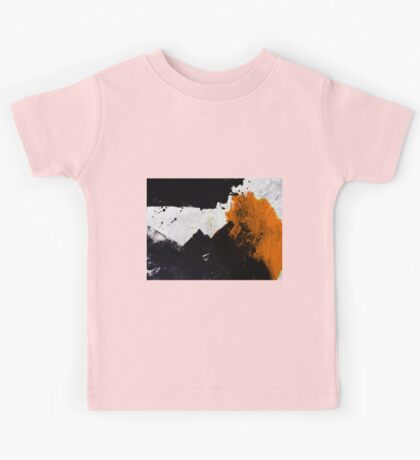 Minimal Orange on Black Kids Clothes
