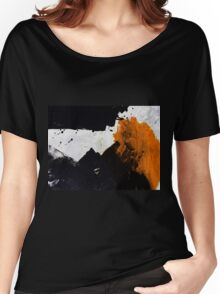 Minimal Orange on Black Women's Relaxed Fit T-Shirt