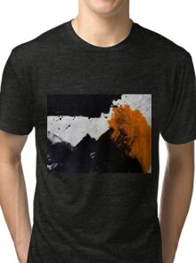 Minimal Orange on Black Tri-blend T-Shirt
