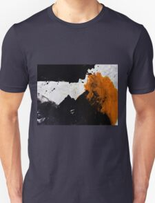 Minimal Orange on Black Unisex T-Shirt
