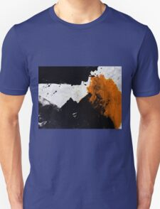 Minimal Orange on Black Unisex T-Shirt