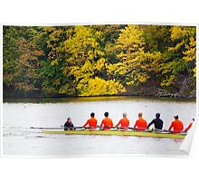 Rowing on Charles River  Poster