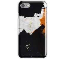 Minimal Orange on Black iPhone Case/Skin