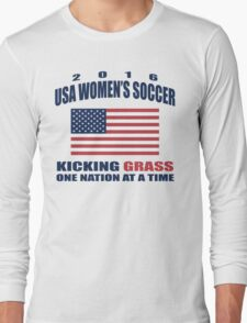Kicking Grass Long Sleeve T-Shirt