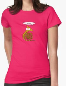 French Horn Womens Fitted T-Shirt