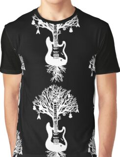 Nature Guitar White Tree Music Banksy Art Graphic T-Shirt