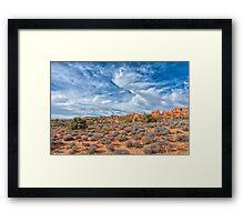 Big Sky At Arches Framed Print