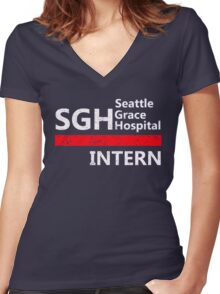Grey's anatomy - SGH Intern Women's Fitted V-Neck T-Shirt