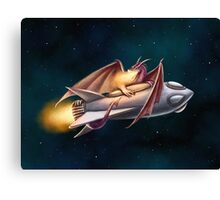 The Dragon's Rocketship Canvas Print