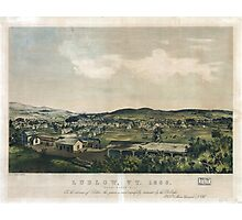 Ludlow Vermont From South Hill (1859) Photographic Print