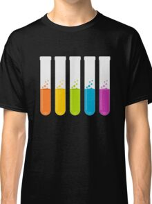 Multi-Colored Science Test Tubes Classic T-Shirt