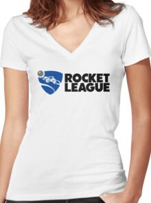 Rocket League Women's Fitted V-Neck T-Shirt