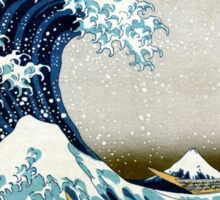 The great wave, famous Japanese artwork Sticker