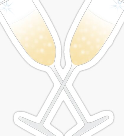 A Champagne Toast Sticker
