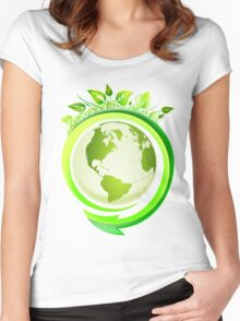 Earth Nature Ecology Women's Fitted Scoop T-Shirt