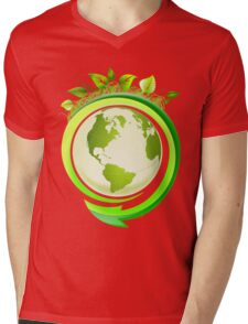 Earth Nature Ecology Mens V-Neck T-Shirt