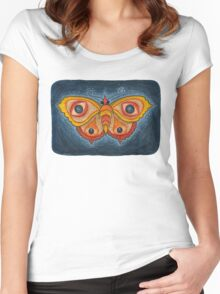 Big Eye Butterfly Women's Fitted Scoop T-Shirt
