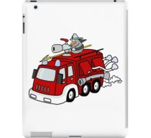 Fire Engine Penguin iPad Case/Skin
