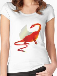 Red Fire Dragon Women's Fitted Scoop T-Shirt