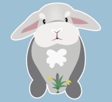 Bunny With Yellow Flowers Kids Tee