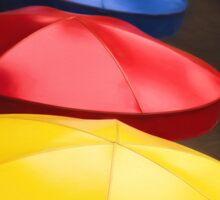 Colorful Umbrellas Sticker