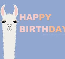 HAPPY BIRTHDAY LLAMA by Jean Gregory  Evans