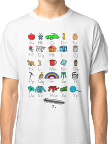 Kid's Colored Learning Alphabet Letters Classic T-Shirt