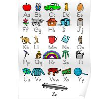 Kid's Colored Learning Alphabet Letters Poster