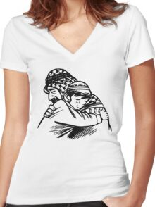 Islam Forgiveness, Father and Son Women's Fitted V-Neck T-Shirt
