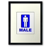Male Sign Framed Print