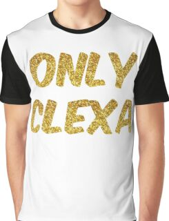 Only Clexa - The 100 -Gold Graphic T-Shirt