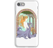 Art Nouveau Woman in Lavender iPhone Case/Skin
