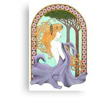 Art Nouveau Woman in Lavender Canvas Print