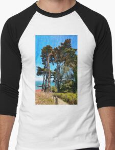 Golden Cypress Trees Men's Baseball ¾ T-Shirt
