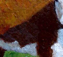 Hereford Beef Calf in Sunshine, Original: Farm Animal, Cows Sticker