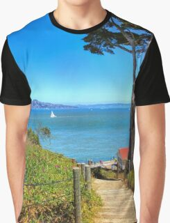 Above San Francisco Bay Graphic T-Shirt