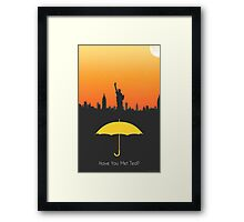 Have you met ted? - yellow umbrella version Framed Print