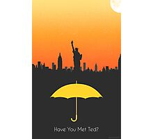 Have you met ted? - yellow umbrella version Photographic Print