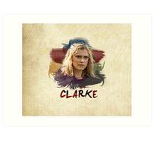 Clarke - The 100 - Brush Art Print